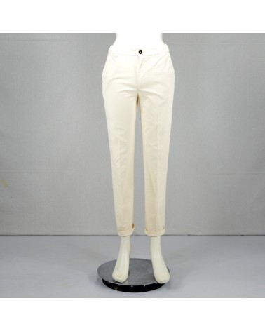 PANTALONI IN COTONE BIANCO WITHISH REGULAR FIT TRUENYC