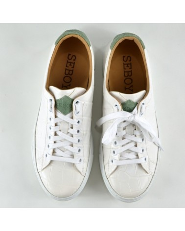 SNEAKERS STAMPA COCCO BIANCO SEBOY'S
